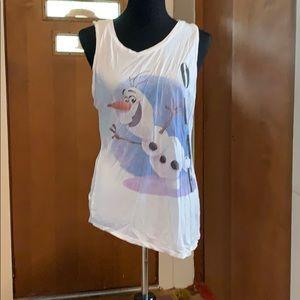 Disney's Olaf from frozen asymmetrical tank!